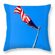Old Glory Hdr Throw Pillow