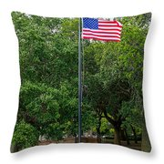 Old Glory High And Proud Throw Pillow