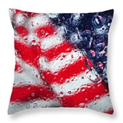 Old Glory Impression Throw Pillow