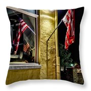 Old Glory Reflected Throw Pillow