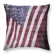 Old Glory Rustic Throw Pillow
