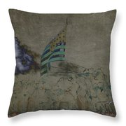 Old Glory Standoff Throw Pillow