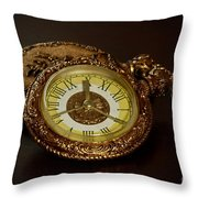 Old Grandfather Time Throw Pillow