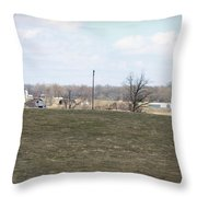 Old Gray Shed On The Hill Throw Pillow