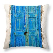 Old Greek Shutter Throw Pillow