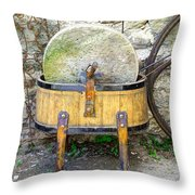 Old Grindstone Throw Pillow by Ivan Slosar