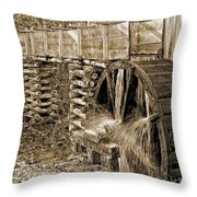 Old Grist Mill Photo Throw Pillow