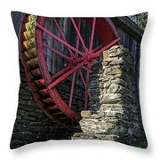 Old Grist Mill Vermont Throw Pillow