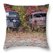 Old Guys Rule Panoramic Throw Pillow