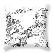 Old Guys  Throw Pillow