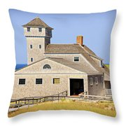 Old Harbor Lifesaving Station--cape Cod Throw Pillow