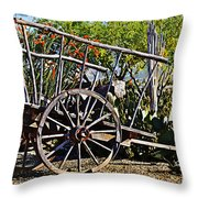 Old Hay Wagon Throw Pillow