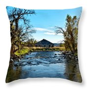 Old Homestead Along Hwy 16 Throw Pillow