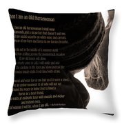 Old Horsewoman Throw Pillow