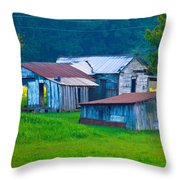 Old House And Harvest Time 2 Throw Pillow