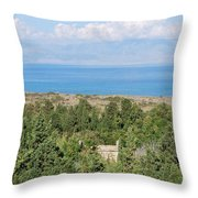 Old House By The Beach Throw Pillow