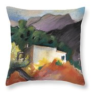 Old House In Altea La Vieja 02 Throw Pillow
