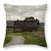 Old House In Culloden Battlefield Throw Pillow