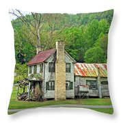 Old House In Penrose Nc Throw Pillow