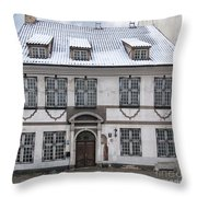 Old House In Riga Throw Pillow