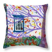 Old House In The Fall Throw Pillow