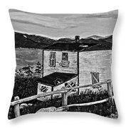 Old House - Memories - Shutters And Boards Throw Pillow