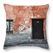 Old House Over Cobbled Ground Throw Pillow by RicardMN Photography