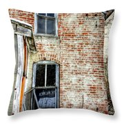 Old House Two Windows 13104 Throw Pillow