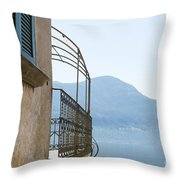 Old House With Lake View Throw Pillow