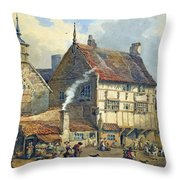 Old Houses And St Olaves Church Throw Pillow