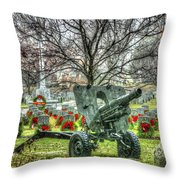 Old Howitzer Throw Pillow