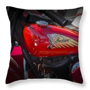Old Indian Cycle Throw Pillow