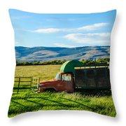 Old International Livestock Truck Throw Pillow