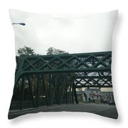 Old Iron Bridge Throw Pillow