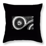 Old Jag In Black And White Throw Pillow