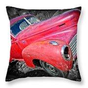 Old Junker Car Throw Pillow