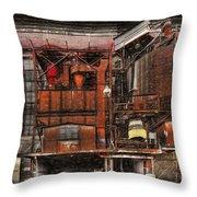 Old Kansas City Factory Building  Throw Pillow