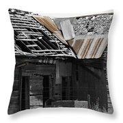 Old Kansas Homestead Throw Pillow
