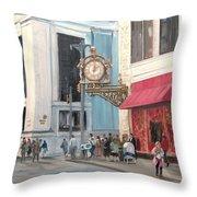 Old Kaufmann's Clock Throw Pillow