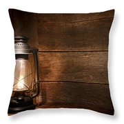 Old Kerosene Light Throw Pillow