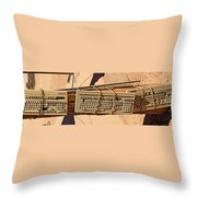 Old Key Boards Throw Pillow