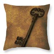 Old Key Throw Pillow