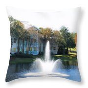 Old Key West Resort Panorama Walt Disney World Throw Pillow
