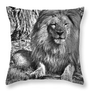 Old King In Black And White Throw Pillow