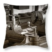 Old Lathe Throw Pillow