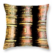 Old Ledgers					 Throw Pillow