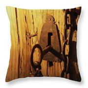 Old Lock And Key Throw Pillow