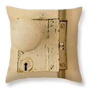 Old Lock Throw Pillow by Photographic Arts And Design Studio