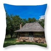 Old Log Cabin Three Throw Pillow