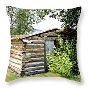 Old Log Homestead IIi Throw Pillow